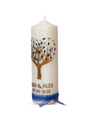hochzeitskerze-brautkerze-traukerze-lebensbaum-perlmutt-blau-gold-mit-schleife (2)