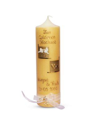 jubiläumskerze hochzeitskerze Kerze zur Goldhochzeit 50 Gold 34,90 (1)-min