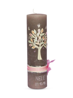 taufkerze-taufe-rustic-christening-rustik-kerze-motivkerze-motiv-individuell-kerzendesign-rustik-rustikal-vintage-dekoband-baum-lebensbaum-kirschbaum-kirschblüten-mädchen