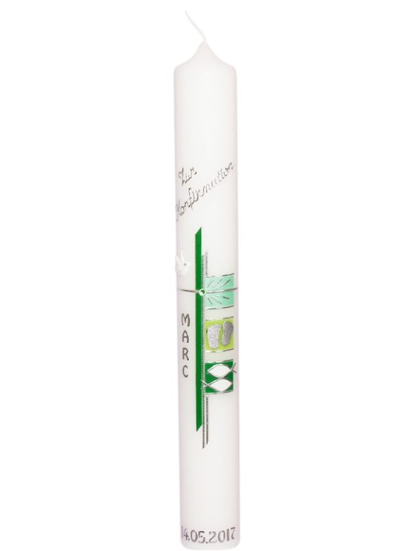 400x40-taufkerze-kommunionkerze-mädchen-junge-mit-name-und-datumgrün-silber-fisch (2)