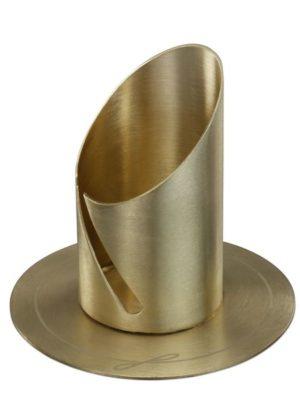 Kerzenleuchter Langkerzen Gold für Kerzen Ø 4 cm für Taufkerzen, Hochzeitskerzen, Kommunionskerzen, Trauerkerzen