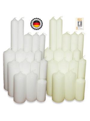 Stumpenkerze-Rohling Blanko [Kerzen selber Machen] zur Taufe Geburtstag Hochzeit Kommunion ideal zum Basteln und Verzieren RAL Weiß