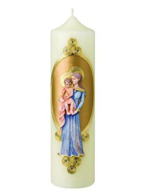 16151611marienkerze-heilige-eve-maria-mutter-gottes-mit-kind-jesuskind-blumenkranz-gold-silber-rose